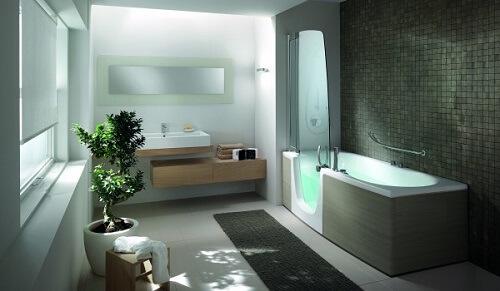 le combin baignoire et douche la fois douches et baignoires com. Black Bedroom Furniture Sets. Home Design Ideas