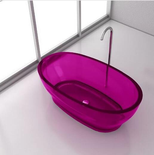 Photos de baignoires lots douches et baignoires com for Baignoire en couleur